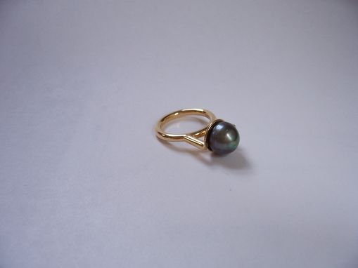 Custom Made Black Pearl Ring
