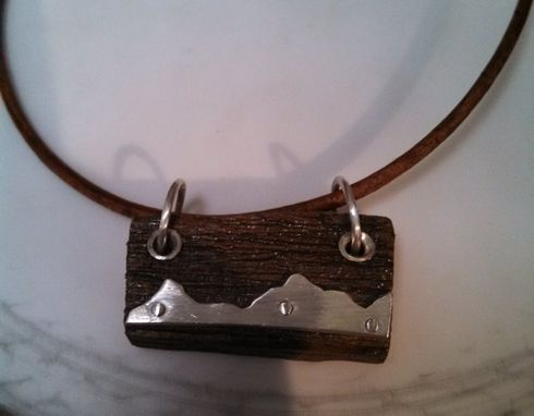 Custom Made Antique Barn Board Pendant