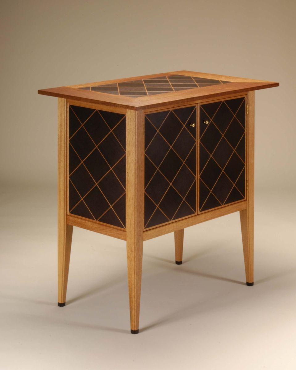 Hand Made Mahogany And Wenge Liquor Cabinet by Neal Barrett ...