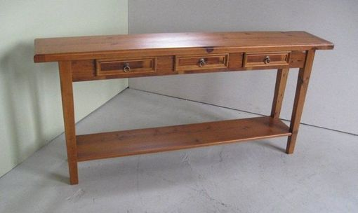 Custom Made Custom 3 Drawer Console Table