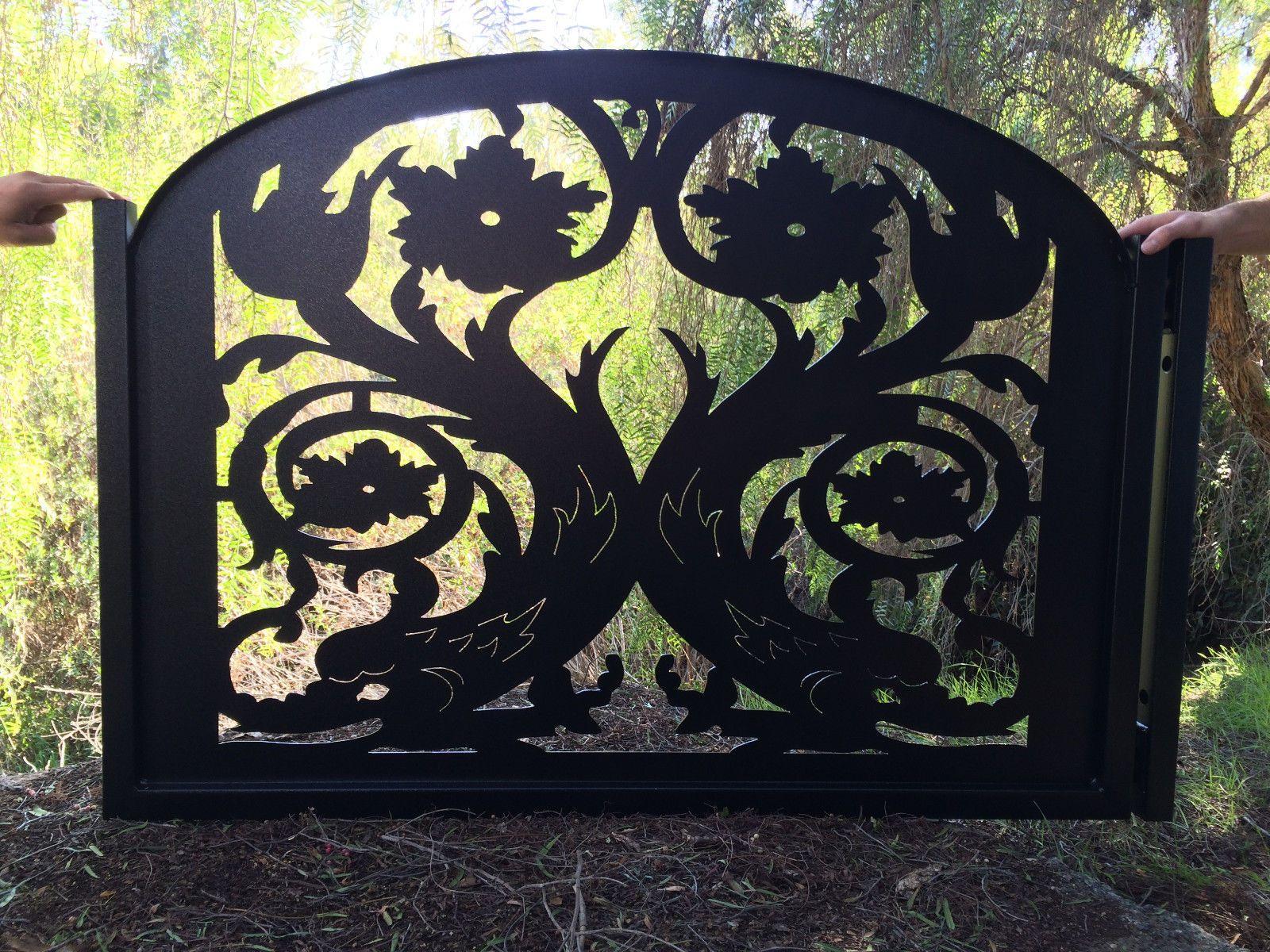 Buy A Hand Made Gate Metal Custom Garden Entry Walk Thru