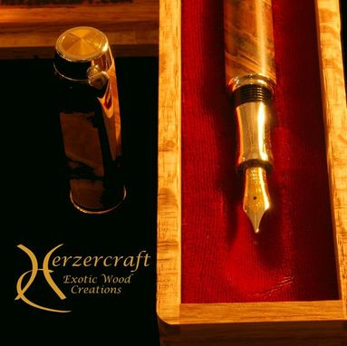 Custom Made Gentlemen's Fountain Pen Ambrosia Maple