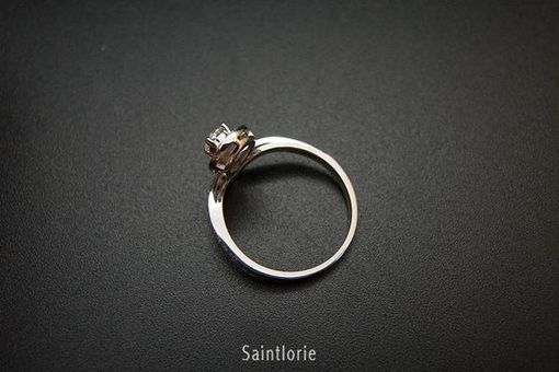 Custom Made 0.1 Carat Diamond Engagement Ring