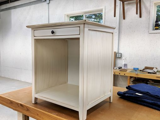 Custom Made Mini Fridge Cabinet / Wine Cooler Cabinet / Side Table
