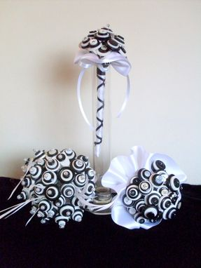 Custom Made Tuxedo Black And White Buttons Bridal Bouquet