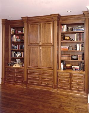 Custom Made Cherry Bookcase & Entertainment Center