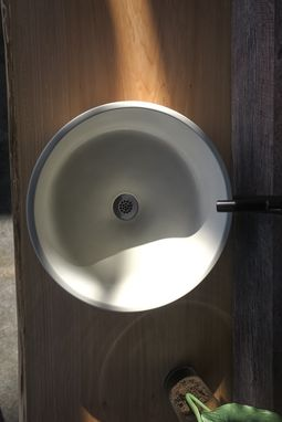 Custom Made Concrete Vessel Sink - Round