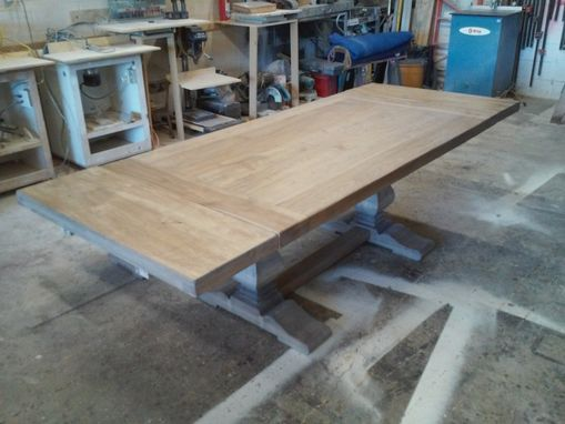 Custom Made Custom Dining Table - Trestle Table.