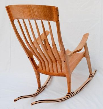 Custom Made Curley Maple Rocking Chair