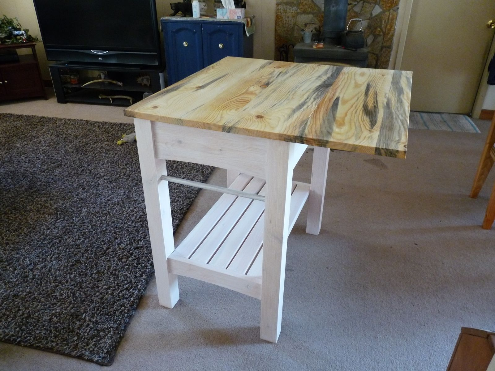 Handmade Kitchen Island Table By Sawtooth Creations