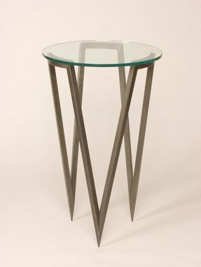 Custom Made Circle Pedestal Table
