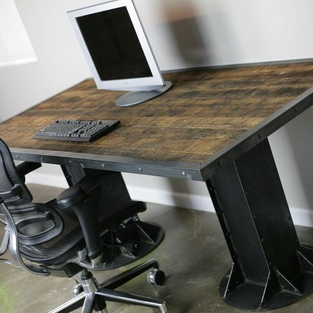 A Hand Made Modern Desk Vintage Custom Sizes Configurations Dining Table Executive To Order From Combine 9 Custommade