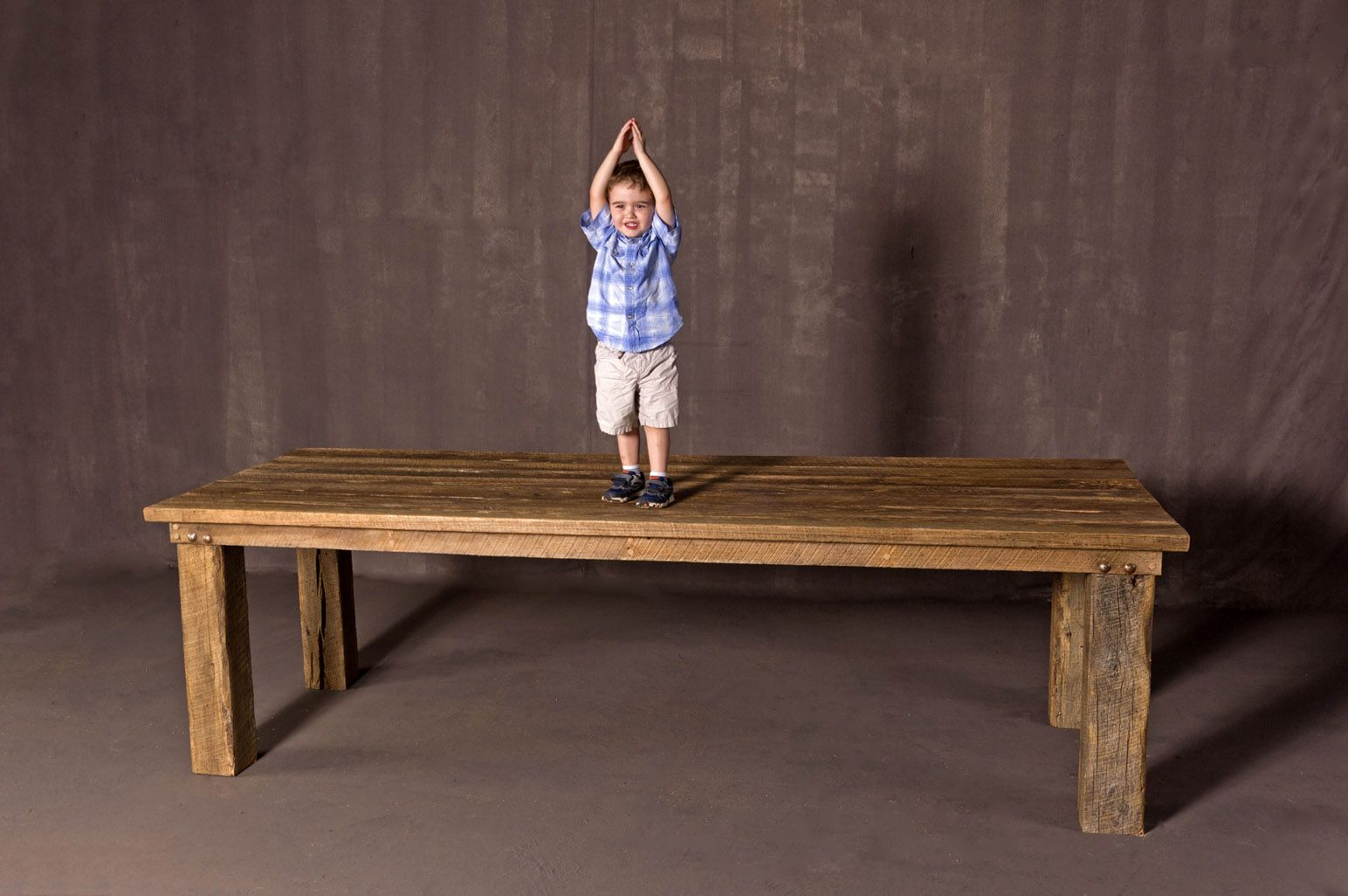 Buy A Hand Made Huge Barn Wood Dining Table Made To Order