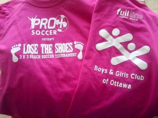 Custom Made Charity Event Tshirts For Boys And Girls Club Soccer Event