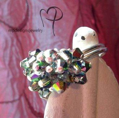Custom Made Swarovski Crystal  Custom Cluster Bridesmaid Ring