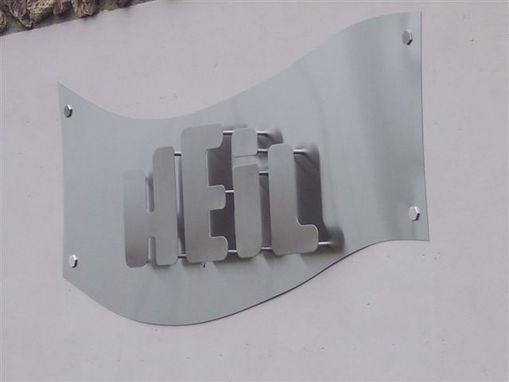 Custom Made Stainless Steel Sign