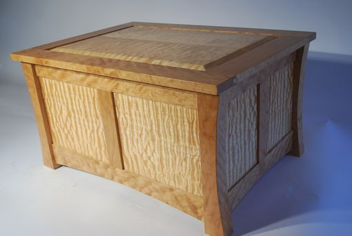 Custom Made Quilted Maple Wedding Box Or Mini-Chest