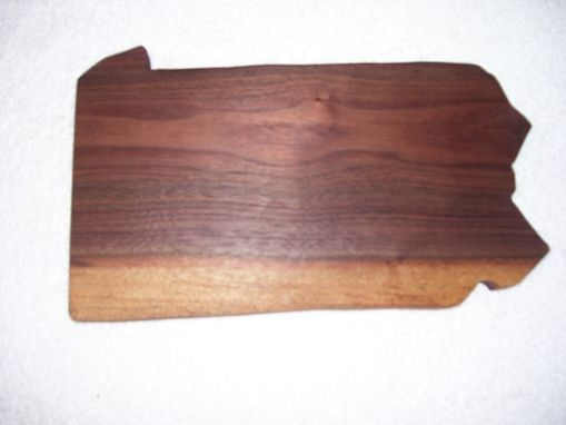 Custom Made P:Ennsylvania Cheese And Cracker Cutting Board Made From Walnut
