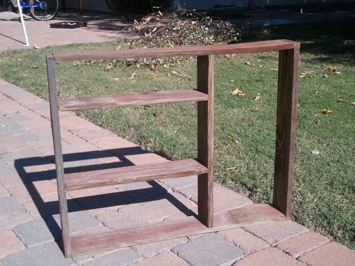 Custom Made Simple Red Wooden Shelf