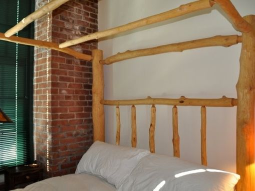 Custom Made Sugar Maple Queen-Sized 4-Poster Canopy Bed