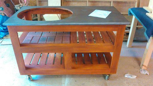 Custom Made Indy Dell Grill Table For Big Green Egg, Primo, Kamado Joe Grill