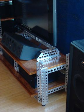 Custom Made Machined Aluminum Entertainment Center