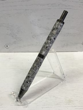 Custom Made Slimline Pro Click Pen With Solid Surface Acrylic Body And Gun Metal Trim
