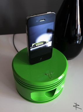 Custom Made Wwii Jacobs Radial Piston Igadget Dock In Lustre Green
