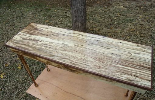 Custom Made Magnificent Spalted Hackberry Sofa/Foyer Table