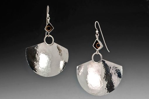 Custom Made Large Hammered Pendulum Earrings