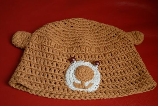 Custom Made Crochet Bear Hat For Children 1-3 Years