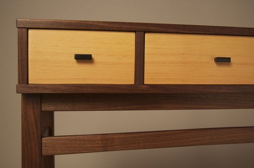 Custom Made Console Table In Walnut & Douglas Fir