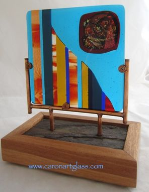 Custom Made Fused Glass Sculpture - I `Uka, The Mountains