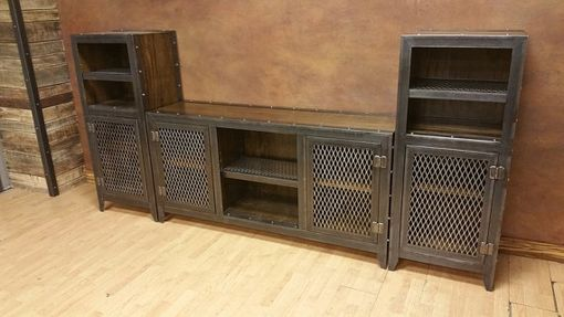 Custom Made Industrial Entertainment Center #013s • By Iefco