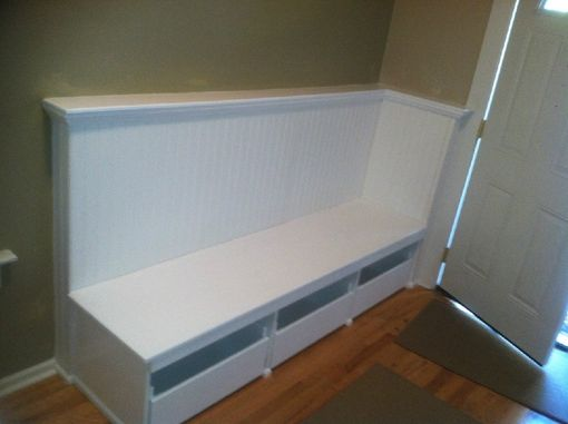 Custom Made Entry Way Storage Bench