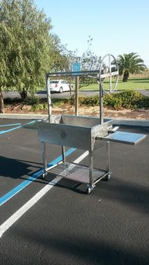 Custom Made Stainless Santa Maria Style Bbq Grill