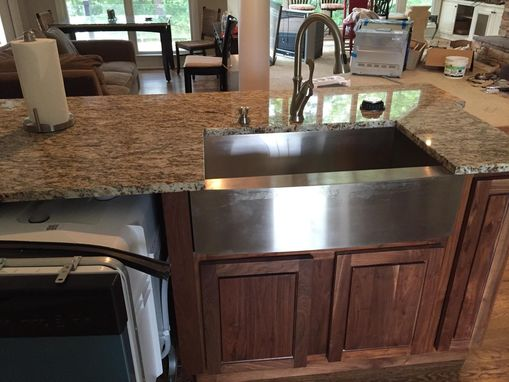 Custom Made Kitchen Island With Spice Rack, Dishwasher And Granite Foot Rest