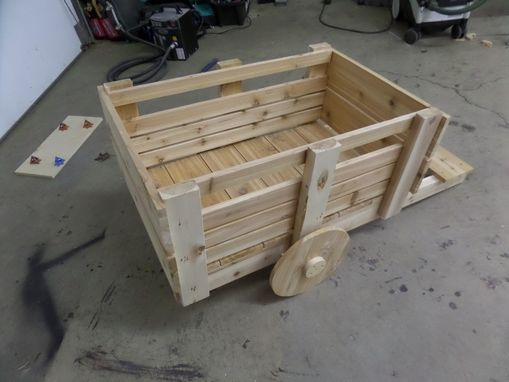 Custom Made Rustic Cedar Garden Cart