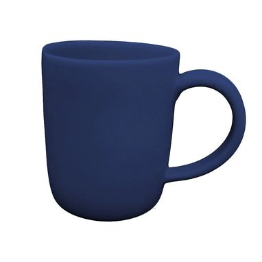 Custom Made Large Matte Porcelain Usa Made Mug- Indigo