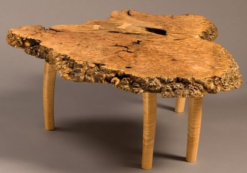 Custom Made Big Leaf Maple Burl Table