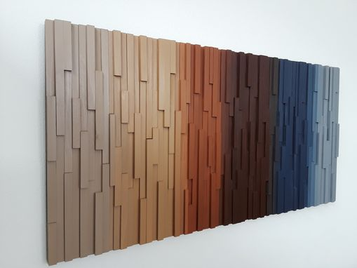 Custom Made Wooden Wall Decor In Earth Tone Colors