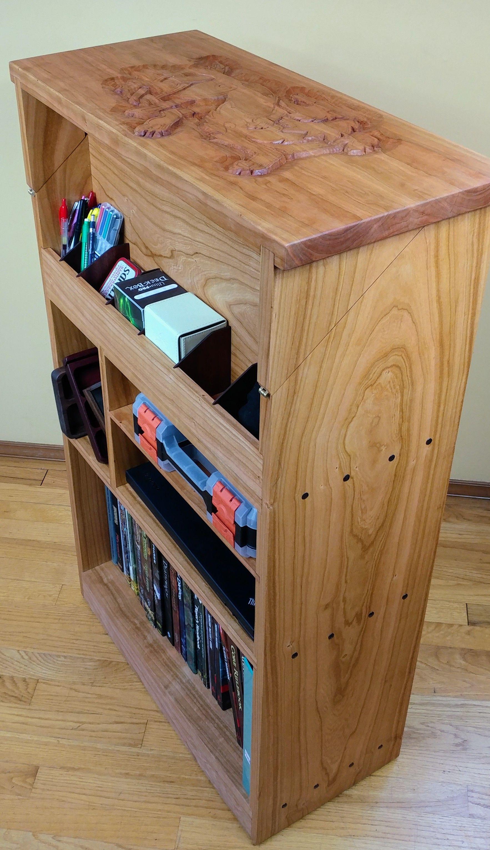 Handmade Game Valet Bookshelf by Knotted Titans Workshop