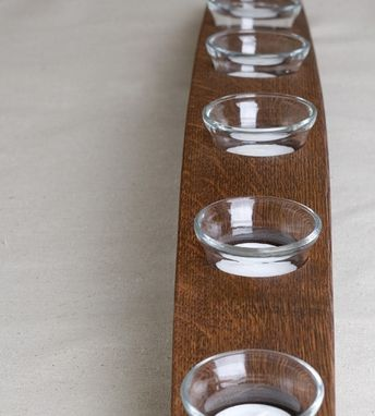 Custom Made Barrel Stave Votive-- 5 Candles