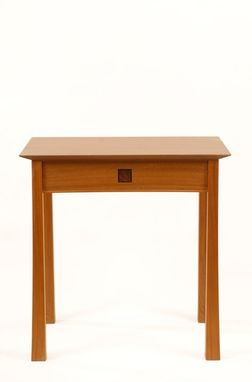 "Custom Made Side Table ""Torii"" In Sapele"