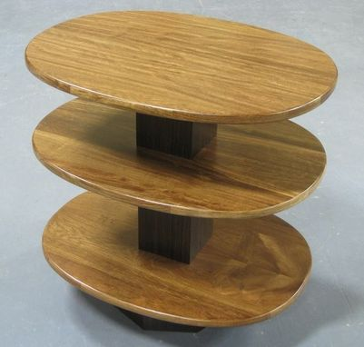 Custom Made Chechan & Asian Ebony End Table