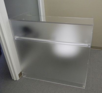 Custom Made Acrylic Reception Desk - Hand Crafted And Made To Order, Custom Sizing And Features Never A Problem