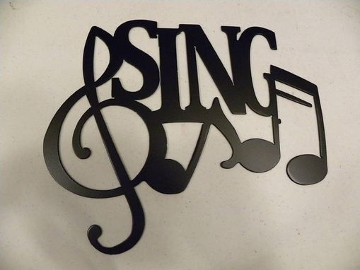 Custom Made Sing Word With Notes Metal Wall Art Music Decor