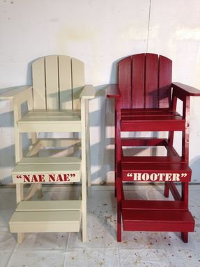 Custom Made Tall Beach Chair/Life Guard Chair