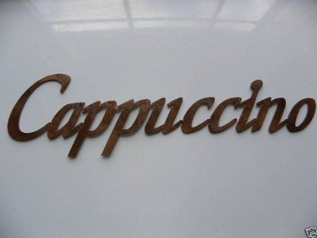 Hand Crafted Cappuccino Word Metal Wall Art Kitchen Decor Coffee