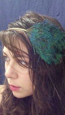 Custom Made Sale Turquoise & Blue Peacock Feather Hair Fascinator, Great Bridesmaid Gift, Ready To Ship